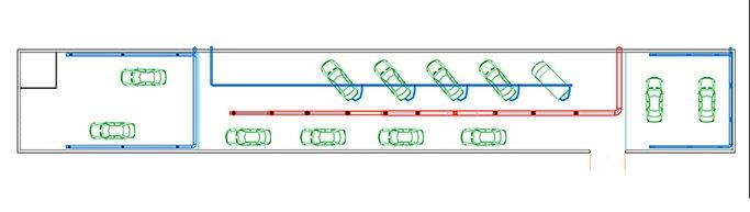 схема вентиляции в автосервисе
